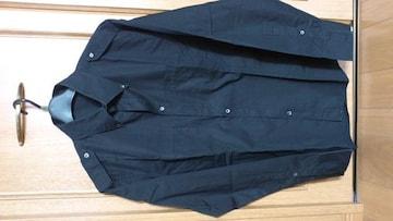 激安83%オフリキエルオム、カジュアル、長袖シャツ(美品、黒、日本製、L)