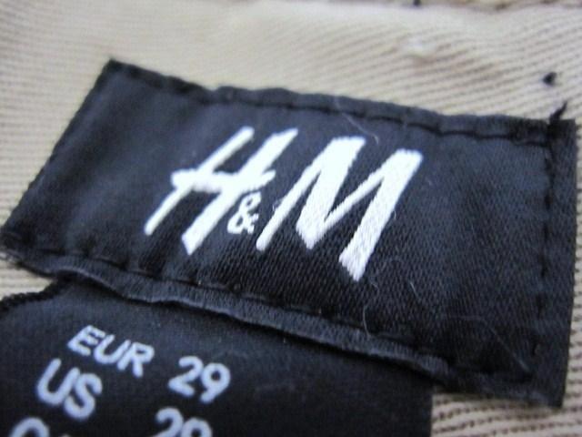 □H&M/エイチアンドエム スリムフィット パンツ/チノパン/メンズ・29☆新品 < ブランドの