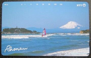 初代「江ノ島の灯台」と富士山が写り込んだ未使用のテレカ�A