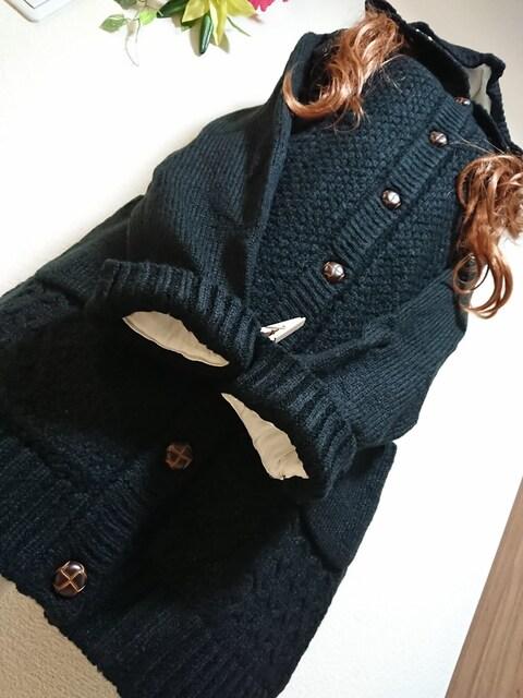★新品タグ4LTT★裏地ボア★ロングカーデ¥6259 < 女性ファッションの