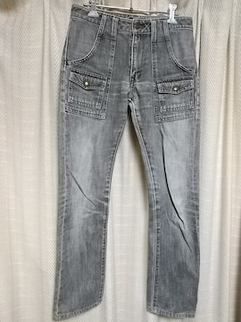 フルカウントFULLCOUNT ブッシュパンツサイズ28グレー薄黒アメカジデニムパンツジーンズ服