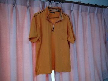 JOHNY PULLSのオレンジのポロシャツ(XL)!。