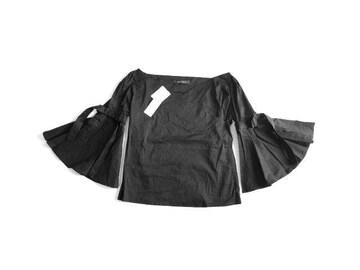 新品 定価5900円 スパイラルガール SPIRALGIRL 黒 ブラウス