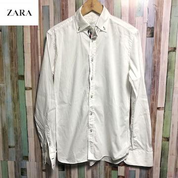ZARA ザラトリコロールラインドレスシャツ