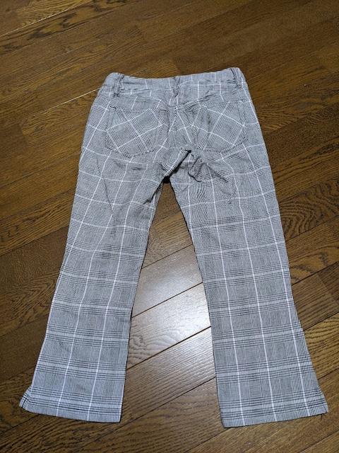 パンツ/七分丈/カジュアルパンツ/茶色系チェック柄/Sサイズ < 女性ファッションの