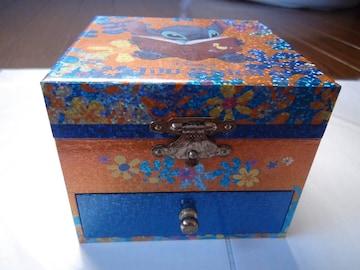 リロ&ステッチのオルゴール付き化粧箱!。