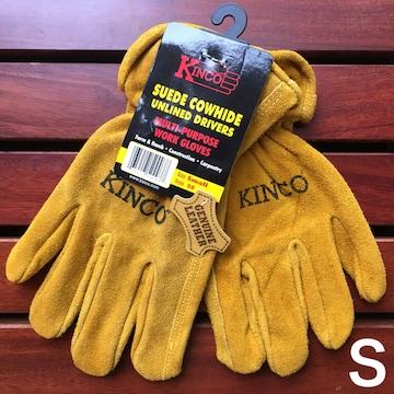 キンコkincoスエードカウハイドワークグローブS革手袋アウトドア