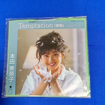 シングルレコード 本田美奈子 '85/9 テンプテーション 誘惑 東芝暖房器具CM曲