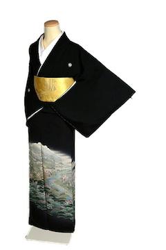 【最高級】【未使用品】十日町友禅作家【阿部佳雪】黒留袖 T2073