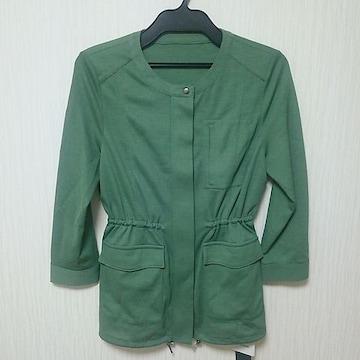 新品 ジャケット サイズ38 M相当 春秋 green系