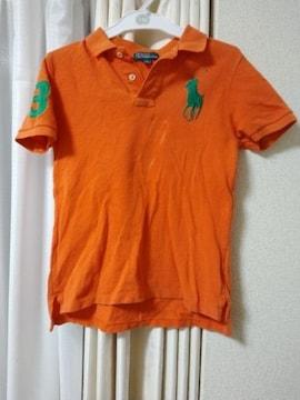 POLO RALPH LAUREN130cm半袖ポロシャツオレンジラルフローレン
