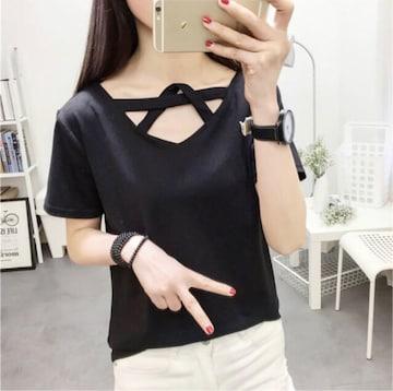 《新品》デザイン Tシャツ サイズL ブラック