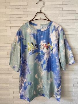 新品 タイダイ 半袖 ビッグ Tシャツ 男女兼用 2XL パープル