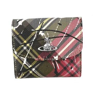 ◆新品本物◆ヴィヴィアンウエストウッド DERBY 3つ折財布(EX)『51150003』