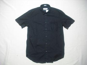 62 男 CK CALVIN KLEIN カルバンクライン 黒 半袖シャツ Mサイズ