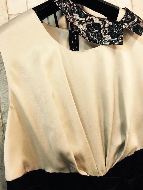 新品☆21号3L♪付け衿ステキなパーティワンピース☆s637 < 女性ファッションの