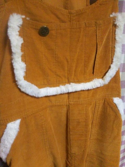 ★コールテン オーバーオール サロペット サイズL オシャレデザイン★ < 女性ファッションの