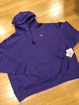 Championパーカープルオーバーリバースウィーブ肉厚 裏起毛3XL紫