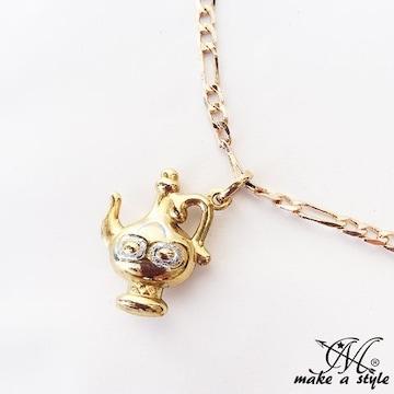 アラジン ランプ フィガロ チェーン 金 ゴールド ネックレス 601