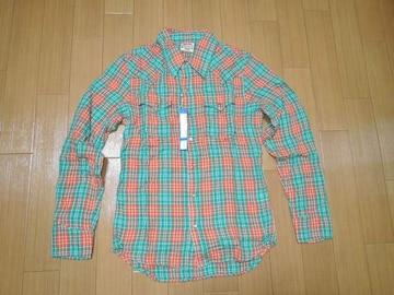 新品マーブルズMARBLESダブルガーゼチェックシャツSオ緑TMT