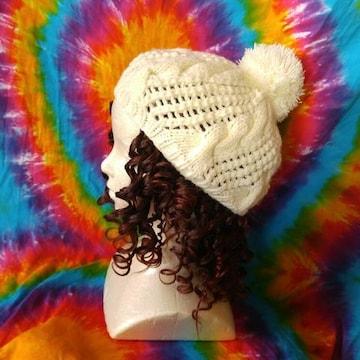 激カワッ♪ポンポン付きニット帽子◆フェミニンstyle♪