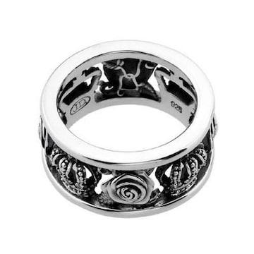 新品◆JUSTIN DAVIS◆MY LOVE RING◆9号◆薔薇クラウンリング◆