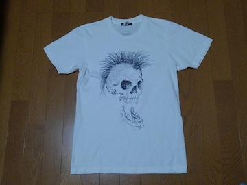 ★Ed Hardy/エドハーディ★モヒカンスカル半袖Tシャツ★サイズS★白