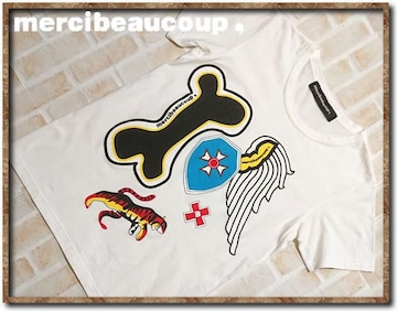 メルシーボークー プリントTシャツ 白
