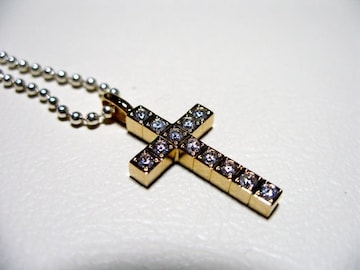 仁尾彫金『ゴールドフルダイヤクロス』ハンドメイド53