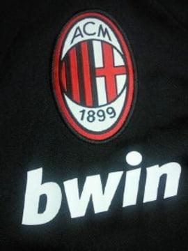 イタリア サッカー ACミラン デザイン adidas アディダス ジャージ 上着 ブラック S