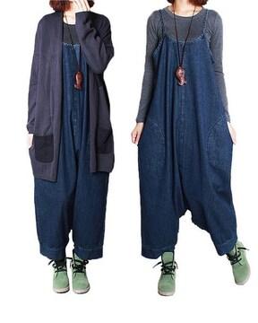 2way ワンピース &サルエル . サロペット パンツ(Lサイズ)