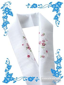 【和の志】日本製◇夏物刺繍半襟◇桔梗・小花柄◇PRSH-154