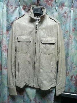 5351プールオムレザーシャツジャケット灰1シェラック