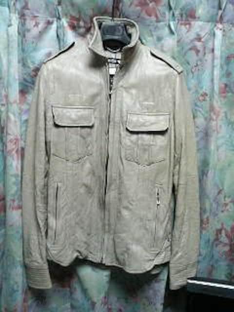 5351プールオムレザーシャツジャケット灰1シェラック  < ブランドの