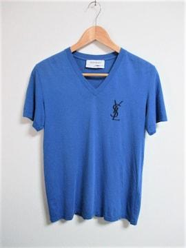 ☆Yves Saint Laurent イヴ・サンローラン Vネック Tシャツ/メンズ/S☆完売モデル