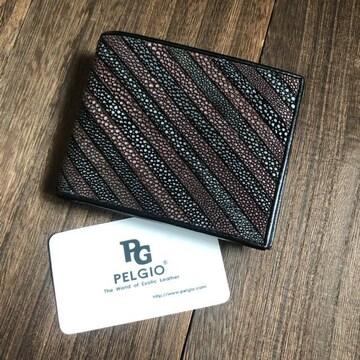 PELGIO スティングレイ(エイ革)ガルーシャ 三つ折り短財布