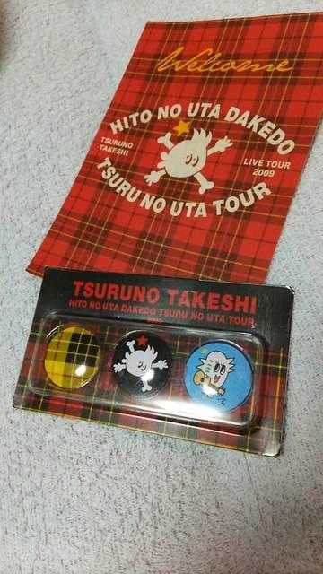 つるの剛士LIVE TOUR 2009 缶バッジ レッド  < タレントグッズの