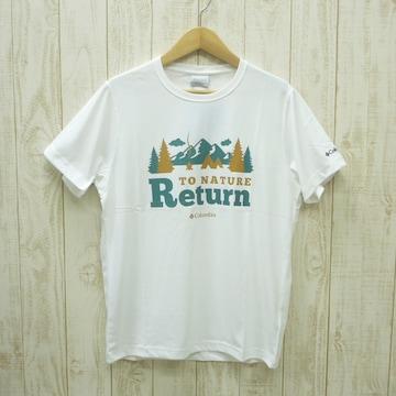 即決☆コロンビア特価ネイチャーTシャツ WHT/L 半袖 新品