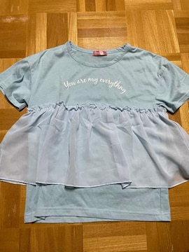 美品 半袖フリルTシャツ キッズ 140