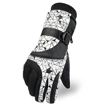防撥水 防寒 スキー 手袋グローブ ホワイト2