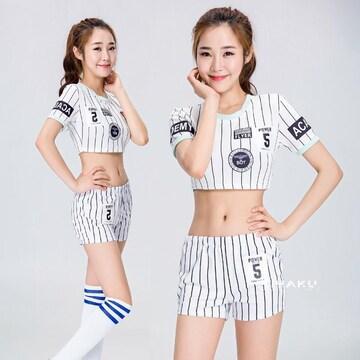 白 パンツ チアガール レースクイーン コスプレ衣装