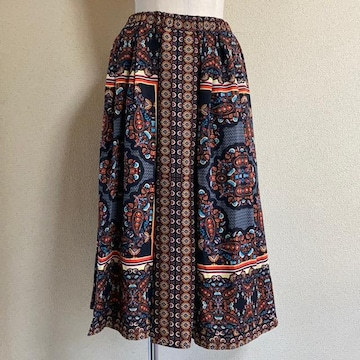 W CLOSET スカーフ柄 スカート M