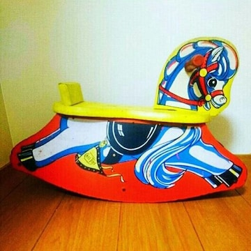 レア アンティーク ロッキングホース 木馬 アメリカ ビンテージ