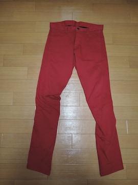 シェラック SHELLAC 立体 カラー パンツ 46 赤