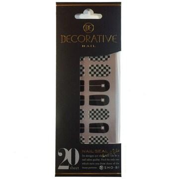 DECORATIVE ネイルシール 20sheet ブラックチェス02