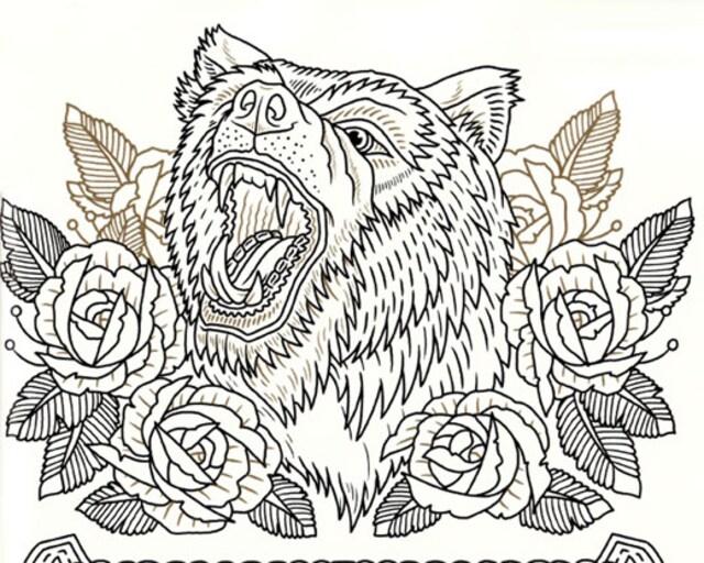 刺青 参考本 THE TATTOO FLASH COLORING BOOK【タトゥー】 < 本/雑誌の