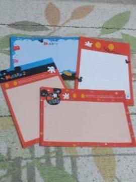 バラ売りハガキサイズメモ帳4種類×5枚 ミッキーマウス