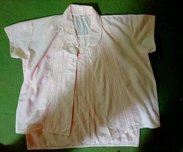 新品 アンサンブル シャツ ベビーピンク パステルカラー 半袖 日本製
