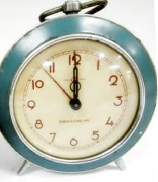 精工舎 セイコー 目覚まし時計 水色 ビンテージ 時計 昭和レトロ