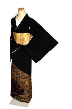 【最高峰】美品 金彩友禅【和田光正】本金箔 黒留袖 T2082